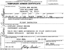 Temporary Airman Certificate